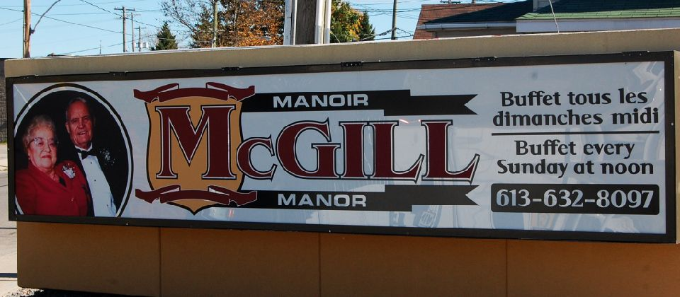 McGill Manor sign